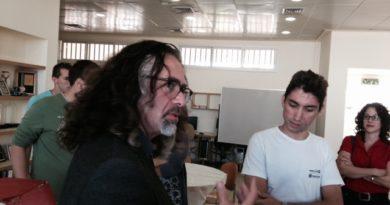 ביקור ג'ו מורטי בבית הספר שבח מופת - לומדים יצירה באמצעות אייפד