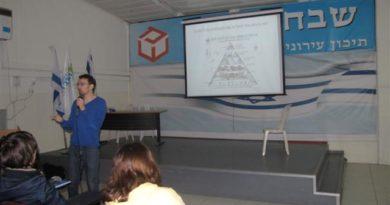הרצאה בנוגע לתזונה נכונה – שכבת כיתות ט'